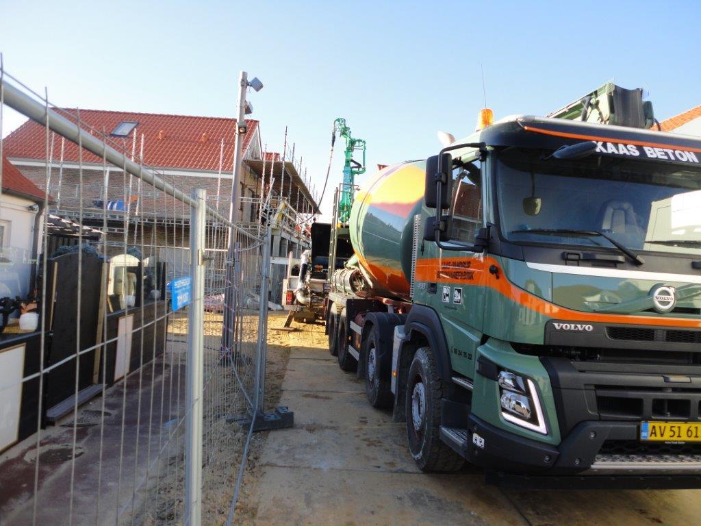 Aflæsning af beton på byggeplads